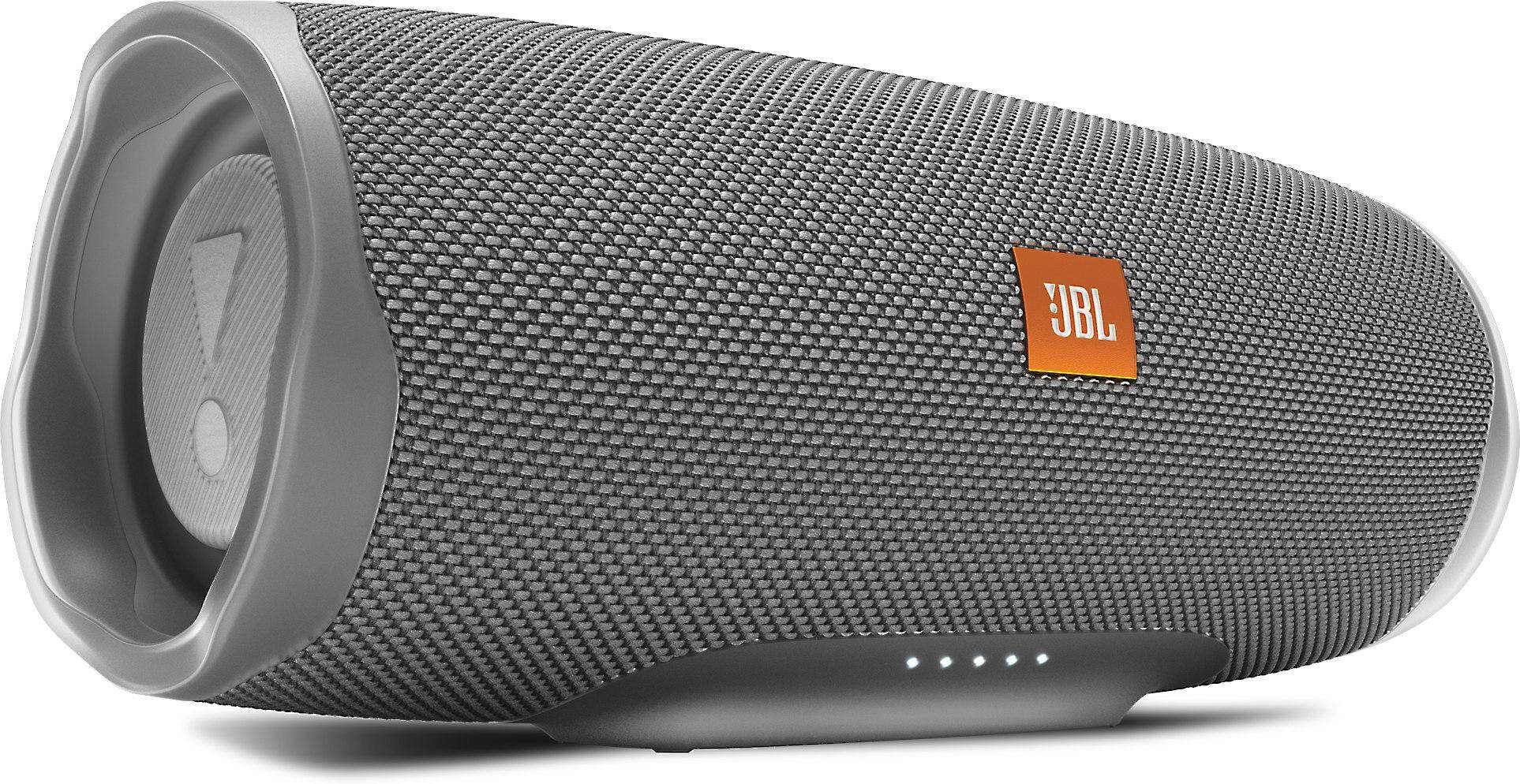 JBL Charge 4 Portable Waterproof Wireless Bluetooth Speaker - 2019 New Model (GREY)