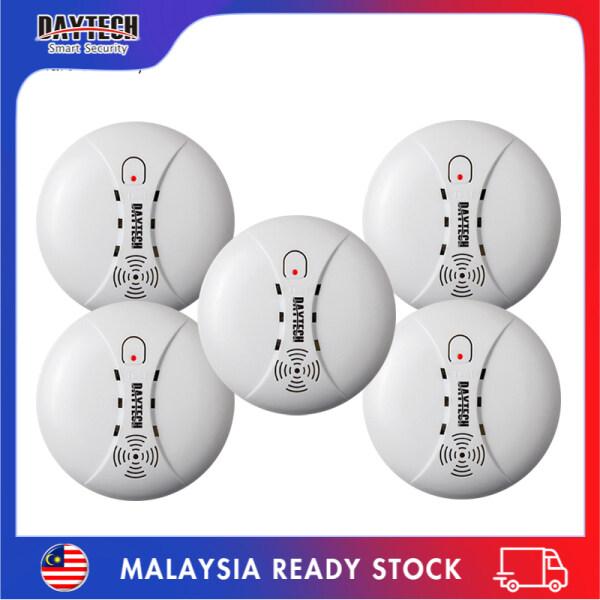 [Malaysia Ready Stock]Daytech Fire Smoke Detector Sensor Portable Independent Fire Alarm Sensor Battery Operation for Home/Office/Mall/Hotel/Restaurant 5PCS SM02