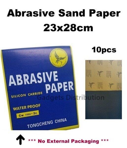 High Quality 10pcs 23x28cm 23*28cm 23cm Waterproof Abrasive Sand Paper 2504.1