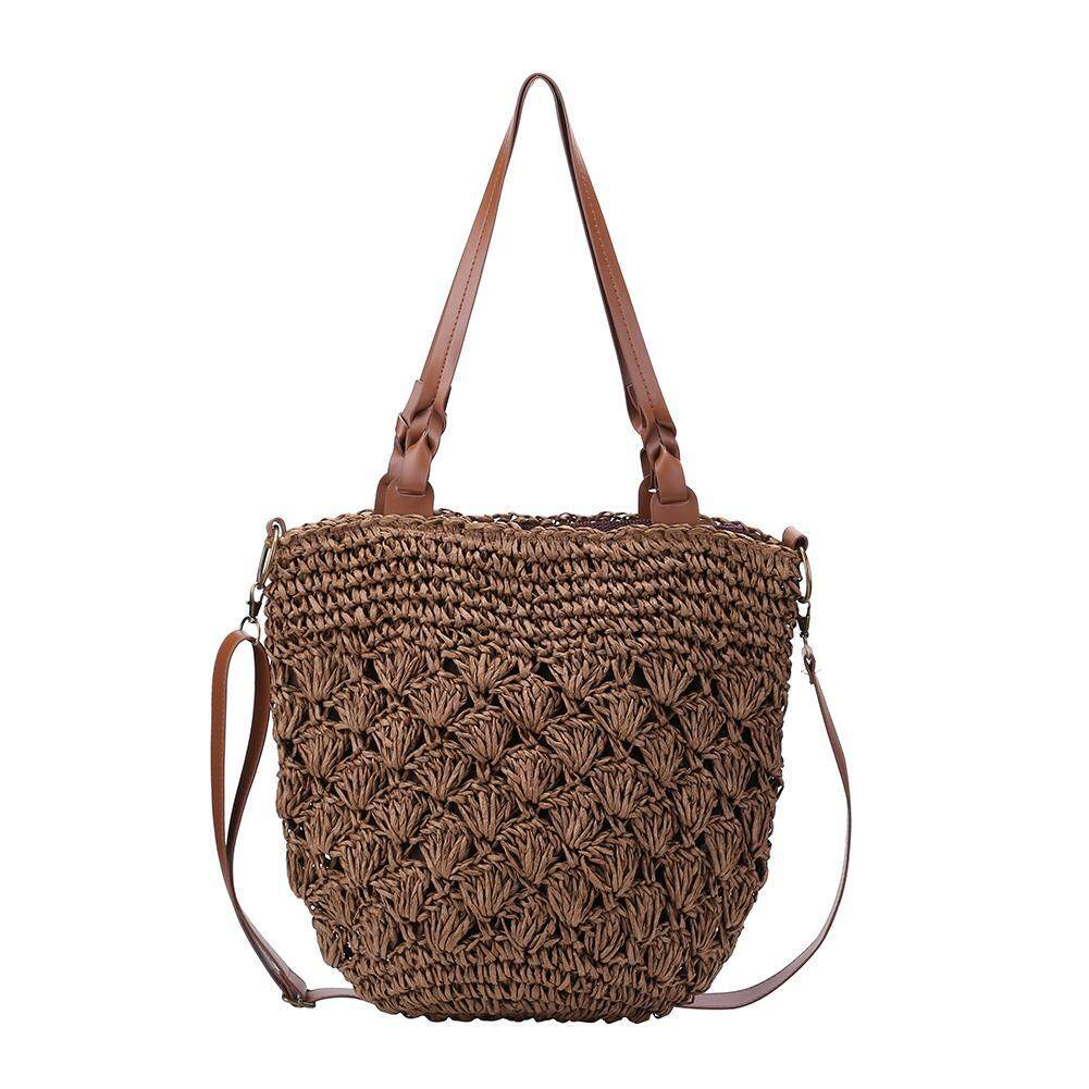 Summer Straw Beach Bags Woven Totes Casual Women Shoulder Messenger Handbag