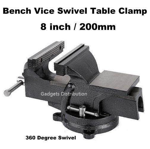 8 inch 8 8-inch Eight Inch 200mm Mechanical Mechanic Bench Vice Swivel Base Table Clamp 2394.1