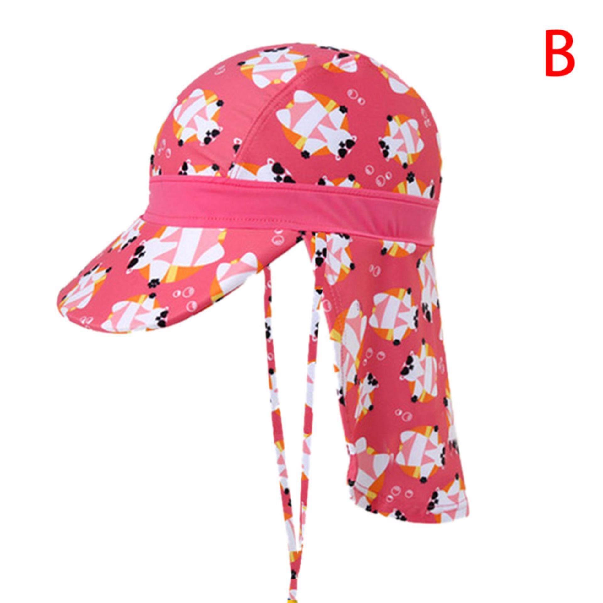 1c323232f Kid Boy Girl Swim Caps Baby Sun Safe Sporty Flap Swim Uv+50 Flap Hat Pool A  Gorgeous Road