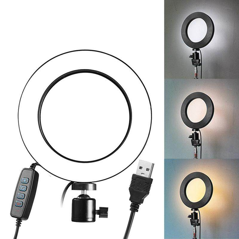Aliname Led Ring Light Dimmable Usb 5500k Fill Lamp Photography Phone Video Live Light + Adapter By A-Liname.