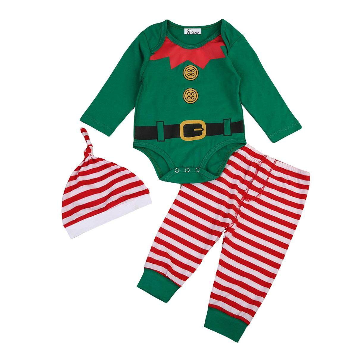 8cec6de0102 0-24 months Newborn Baby Girls Boys Christmas Costume Kids Infant Xmas  Clothing Sets Outfits