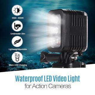 Đèn LED Video Chống Nước Đèn Lặn 5500-6000K Sạc USB Siêu Nhỏ Góc Rộng 30M Dưới Nước 300Lux, Dành Cho GoPro Hero 7 6 5 4 3 + 3 Phiên Và Các Camera Hành Động Có Kích Thước Tương Tự Khác thumbnail