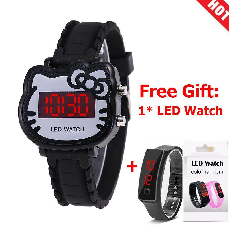 [CNY 2020] 【Buy 1 Get 1 Free】YB1157 Watch Women Led Digital Cartoon Wrist Watches Children Girls Casual Womens Clock FWKI 02 Malaysia