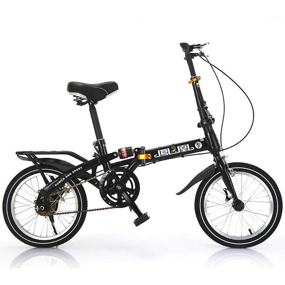 1d338622fc1 (2019 Release) Kumronmo Lightweight Foldable Bicycle Carbon steel car 16  inch Brake single speed