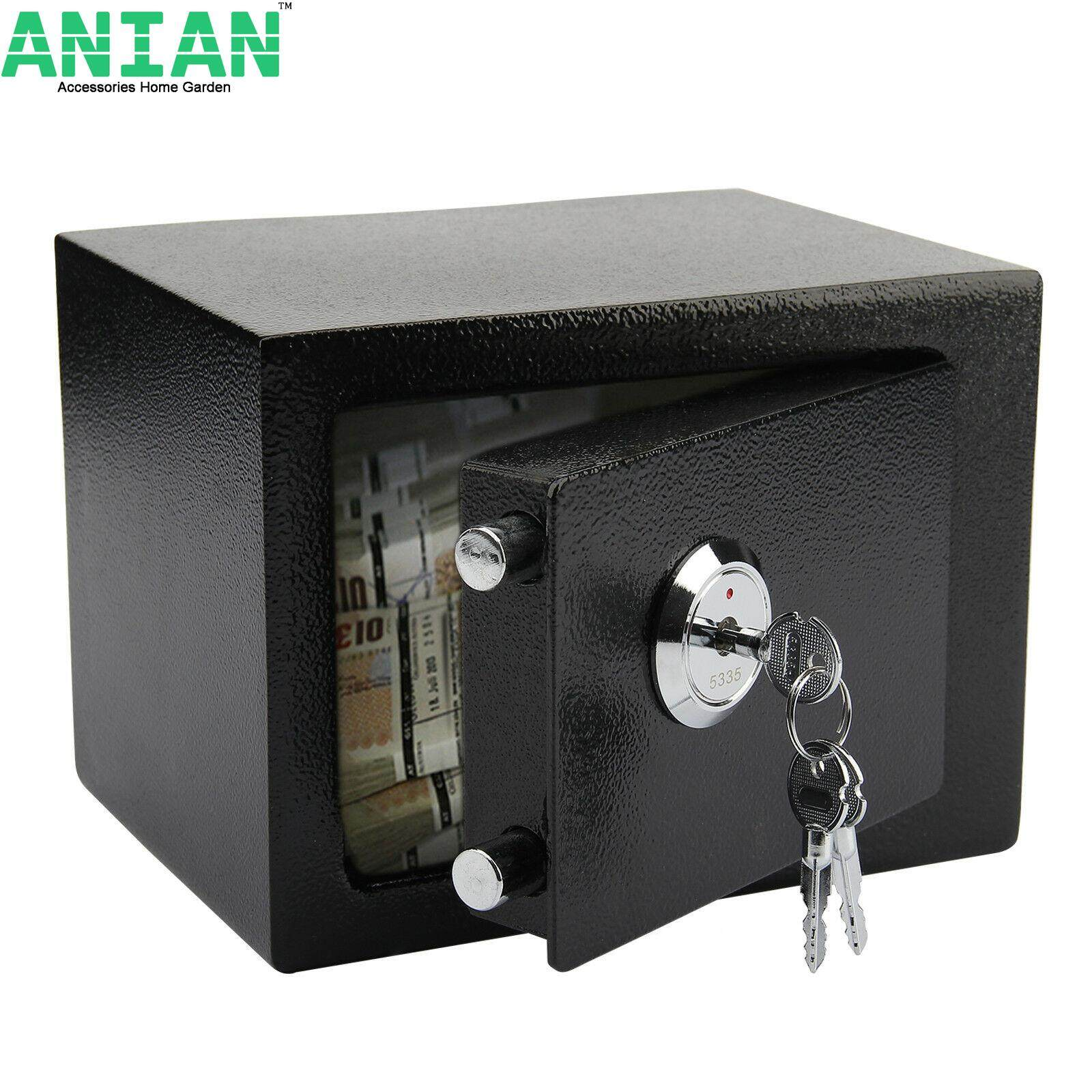 ANIAN DIGITAL STEEL SAFE ELECTRONIC SECURITY HOME OFFICE MONEY CASH SAFETY BOX BLACK