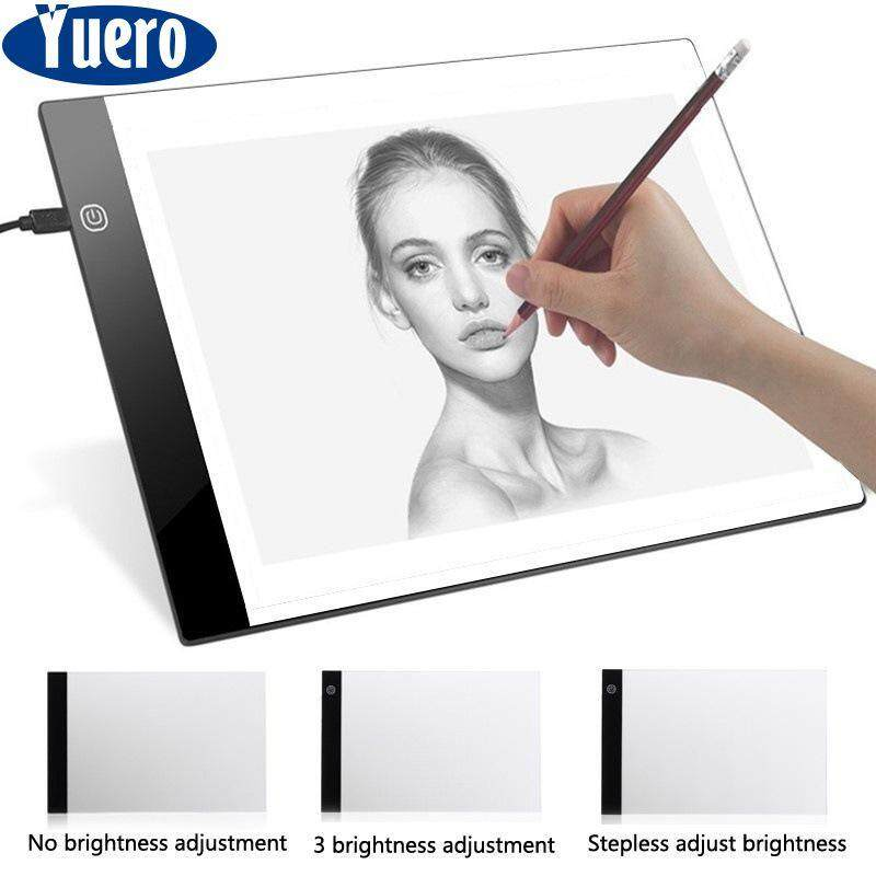 LED A5 Painting Tracing Board,Dimmable Artcraft Tracing Light Box Light Board Copy Pad Panel Drawing Tablet Art Artcraft Stencil White
