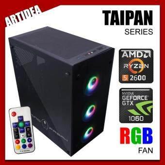 ARTIDEA 80G GHOST TAIPAN RYZEN PC ( Ryzen 5 2600 / AB350M MOBO / 8GB 2666MHz RAM / GTX 1060 3GB Twin Fan / 120GB SSD / FSP 500W BRONZE 80+ PSU )