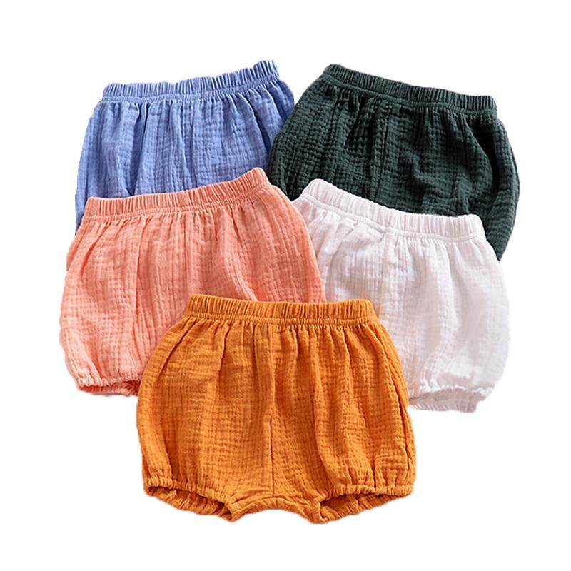 2019 Newborn Baby Bloomers Shorts Pp Pants Cotton Linen Solid Baby Girls Shorts Summer Trousers By Gebistore.