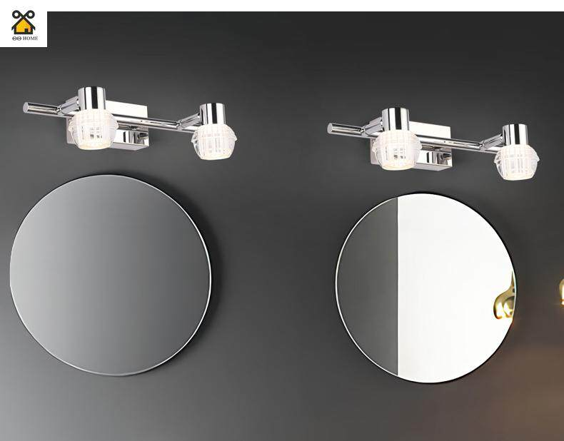 Mirror Headlights Bathroom Toilet Bathroom Led Anti-fog Simple Modern Makeup Mirror Lamp Mirror Bedroom Wall Lamp