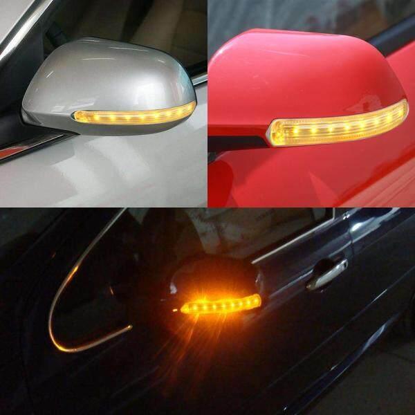2 Cái FPC Bật Đèn Tín Hiệu Amber LED Xe Nguồn Ánh Sáng Tự Động Gương Chiếu Hậu Màu Vàng Mềm 8 SMD DC 12V Chỉ Số Đèn