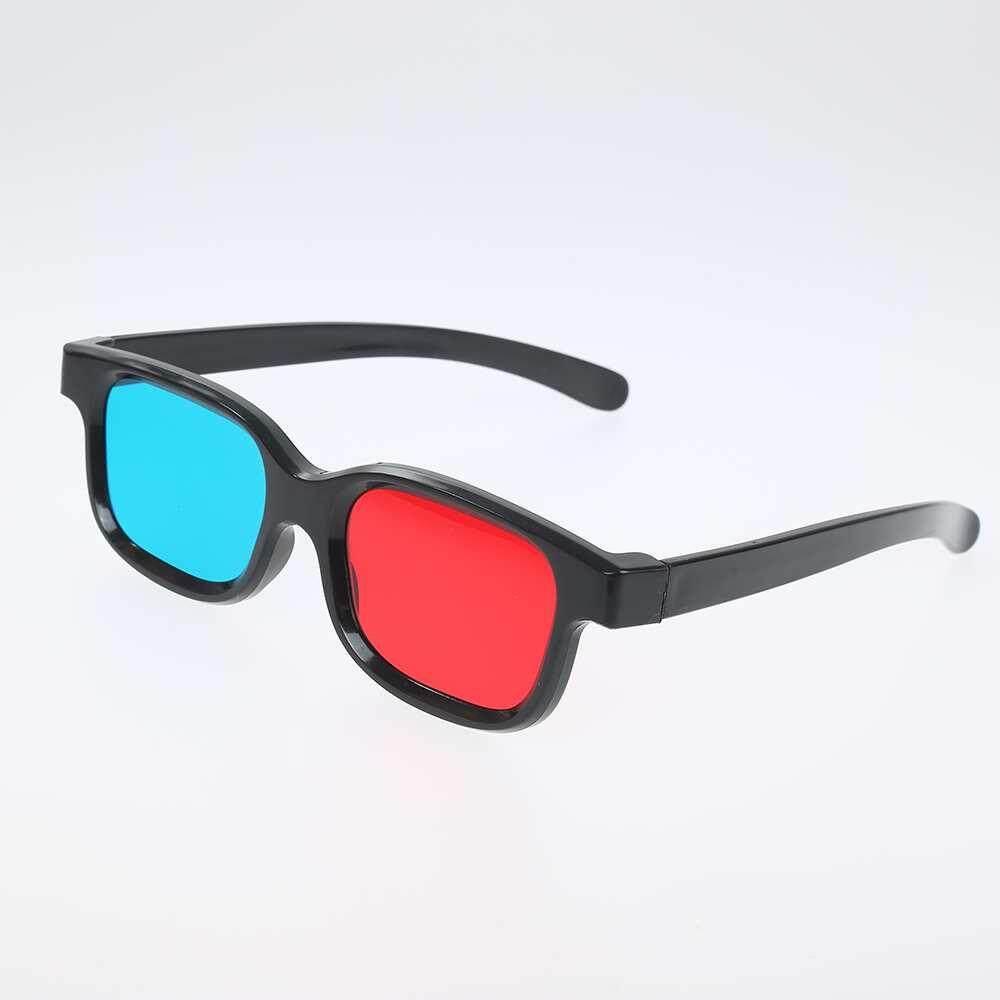 Niceegoal Đỏ và Xanh Dương Game Mắt 3D Kích Cỡ Kính Stereo Đắp Nổi Phim Game DVD Thoáng Mát Xanh Đỏ