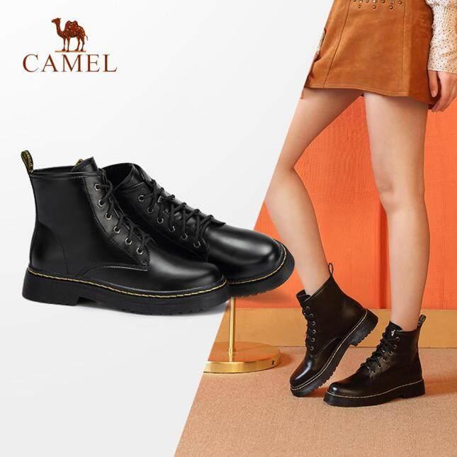 Giày Nữ Camel Bốt Bó Thời Trang Phong Cách Anh Bốt Martin A84893627 giá rẻ