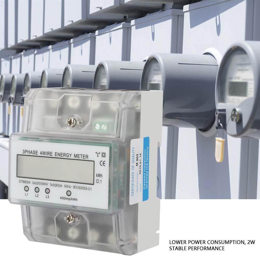 220/380V 5-80A Tiêu Thụ Năng Lượng Kỹ Thuật Số Điện Điện 3 Pha 4P KWh Đo Có Màn Hình LCD