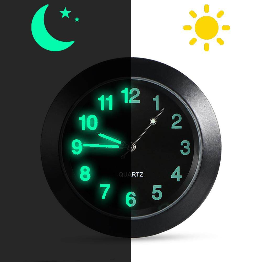 Luminous Auto Gauge Clock Mini Car Air Vent Quartz Clock With Clip Auto Air Outlet Watch Car Styling For Audi(black) By Hlb Mall.