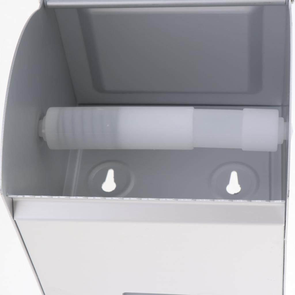 BolehDeals Wall Mount Toilet Paper Roll Holder Aluminium Bathroom Tissue Box w/ Ashtray