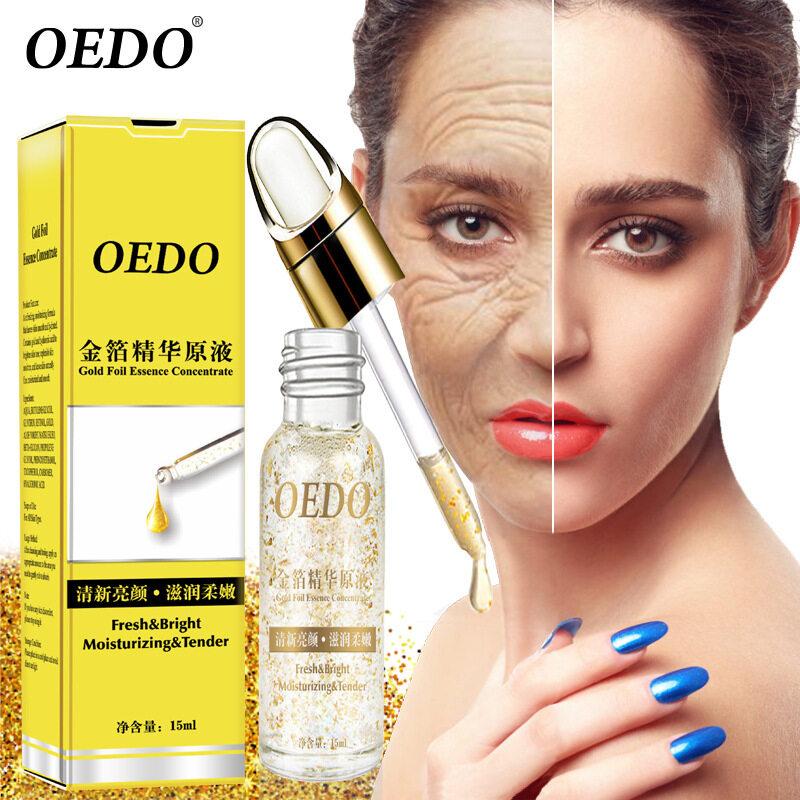 Oedo 15 Ml Gold Serum Asam Hialuronat Hidratante Wajah Esens Serum Anti Keriput Menua Whitening Lifting Wajah Perawatan Kulit