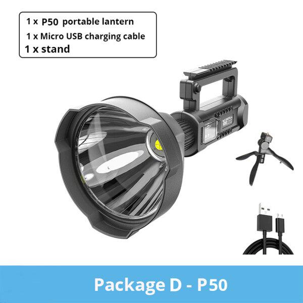 Bảng giá Mạnh Mẽ 200000LM Siêu Sáng XHP70.2/50 Đèn Pha Rọi LED 8000MAh Chỗ Chứa Lớn Đèn Pin LED Đèn Chiếu Sáng Di Động Khẩn Cấp Với Giá Đỡ Có Thể Gắn