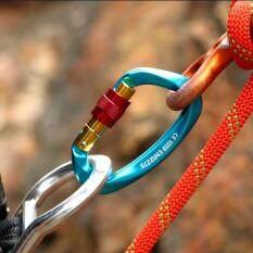 Ngoài trời khóa an toàn khóa leo núi sinh tồn móc đa năng thiết bị