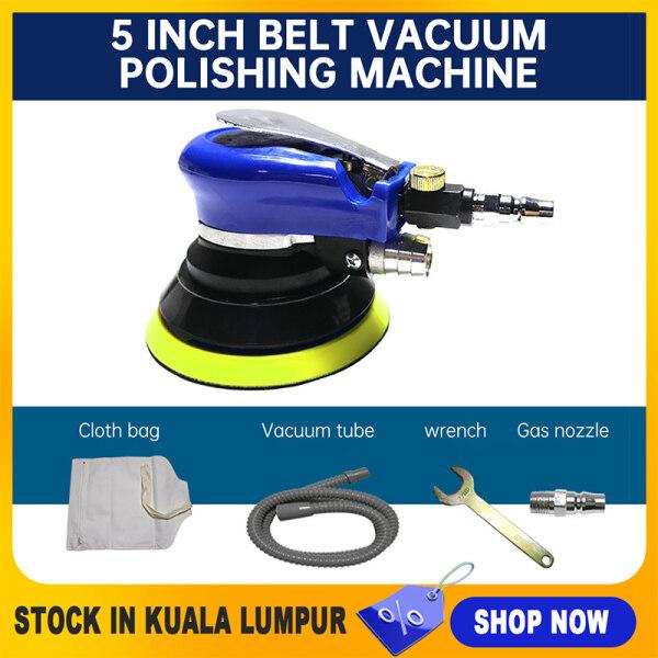 【Stock in KL】5 Inchs Air Sander Vacuum Air Sander  Air Orbital Sander  Pneumatic Round For Car/Metal/Wood+1 Year Warranty +Ship From Kuala Lumpur