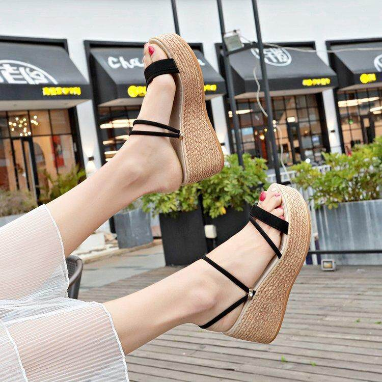 Summer New Style Wedge High-Heel Peep-Toe Non-Slip Sandals