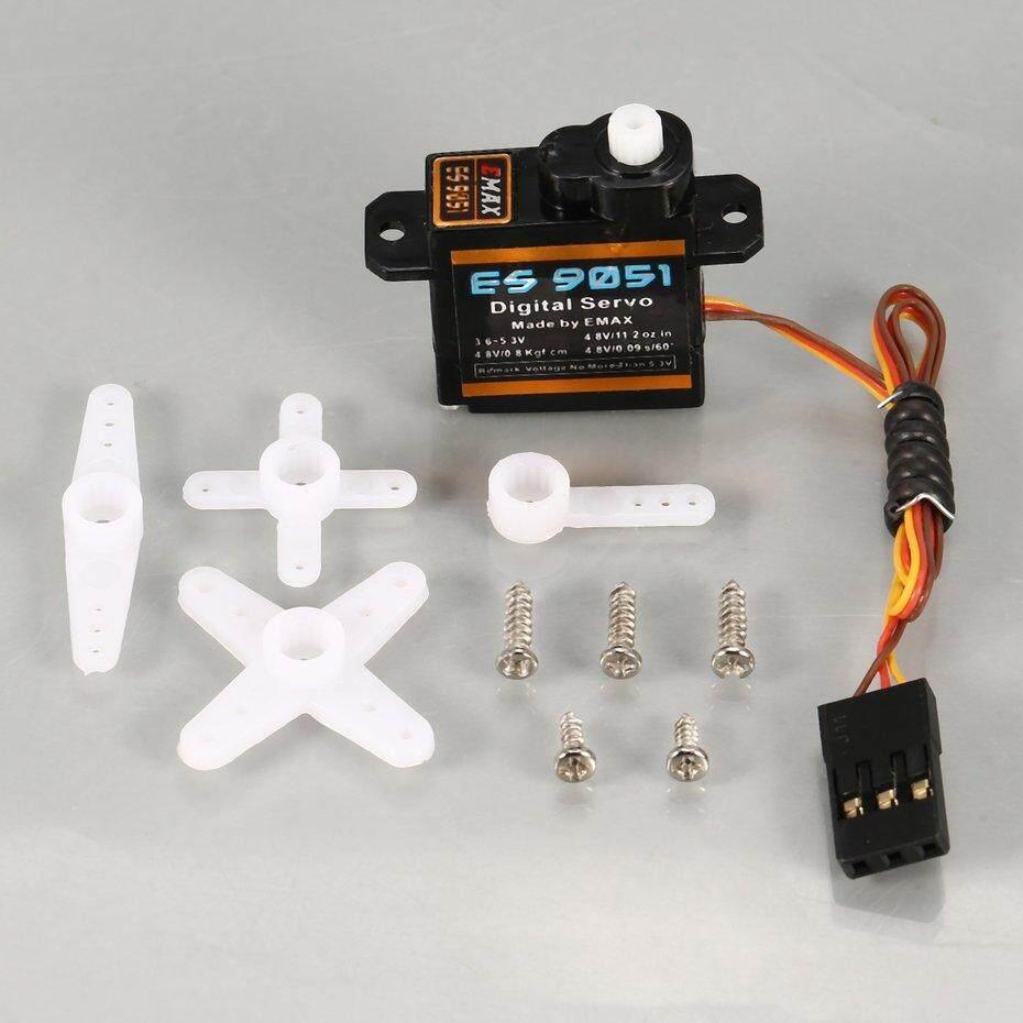 ERA 4PCS EMAX Digital Plastic Gear Servo ES9051 4.8V 0.8kg 0.09 Sec/60 Degree for RC FPV Fixed Wing Airplane Copter Accessories