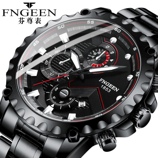 FNGEEN Hot Sale Men Fashion Casual Watch New Luxury Top Brand Waterproof Luminous Calendar Stainless Steel Business Wristwatch For Male 5055 Malaysia