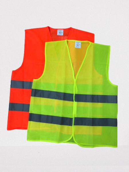 [READY STOCK] Reflective Security Safety Vest with Velcro Stick-On Pad Size XL