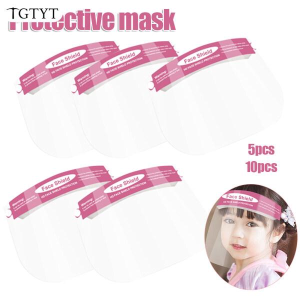 Ready Stock 5/10 Pcs Face Protective Shield Anti Fog Full Face Splash Proof Cover for Children Kids