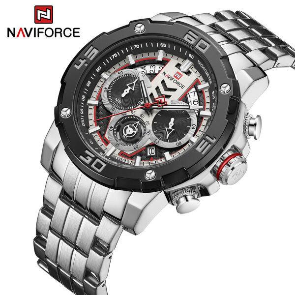 NAVIFORCE 9175 Men Watches Sports Casual Quartz watch for man Fashion Steel Mesh Strap Waterproof Military Malaysia