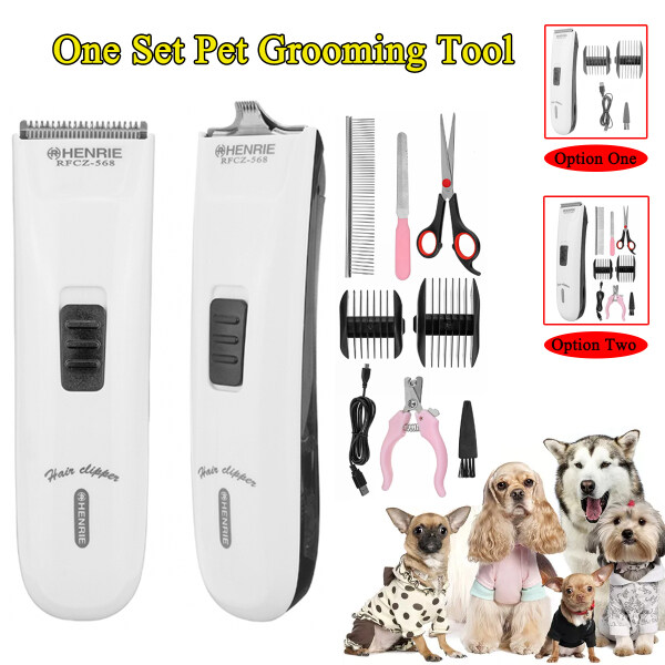 Professional USB Pet Dog Grooming Clipper Thick Fur Hair Trimmer Electric Shaver