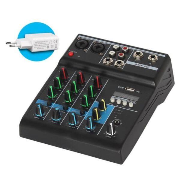 Bộ Trộn Âm Thanh Chuyên Nghiệp, Máy Trộn Âm Thanh Bluetooth 4 Kênh Dành Cho Karaoke