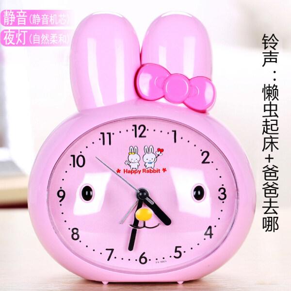 Nơi bán Con mèo nhỏ biết nói đồng hồ báo thức trẻ em học sinh thức dậy bằng giọng nói đồng hồ báo thức cạnh giường tắt tiếng đèn ngủ cô gái đồng hồ báo thức nhỏ Báo động âm thanh kép / im lặng / đèn ngủ để gửi pin + thư�
