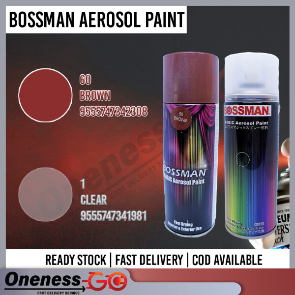 Bossman Aerosol Spray Paint Combo Color and Clear Spray