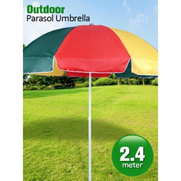 Large Outdoor Parasol Umbrella Beach Garden Canopy Night Market Umbrella Payung Besar Niaga 2.4m