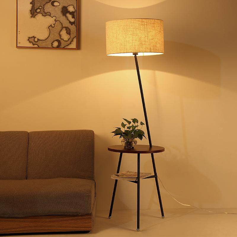 Nordic Creative Log Modern Minimalist Japanese Led Floor Lamp for Living Room Sofa Coffee Table Bedroom Hotel Clubhouse