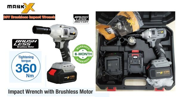 Mark-X 20V Brushless Motor 360Nm 1/2 Impact Wrench