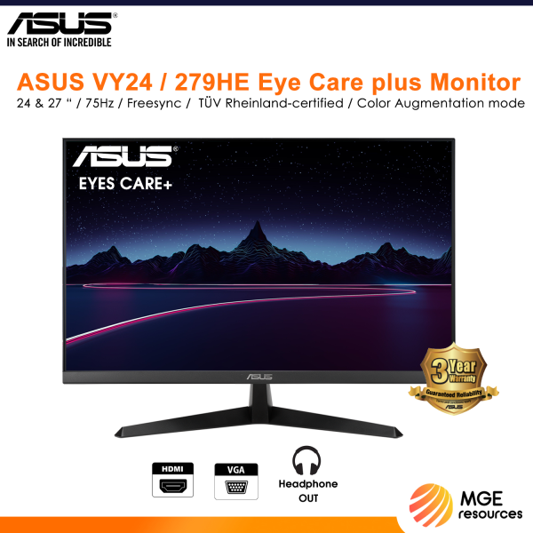 Asus VY279HE 27 Inch 75HZ IPS FHD Eye-care Monitor with Anti-bacterial Technology Malaysia