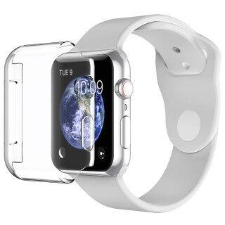 Ốp Bảo Vệ Màn Hình Cho Apple Watch Series 4 5 6 (40Mm & 44Mm) Ốp Đồng Hồ Apple [Cảm Ứng 3D] [Bảo Vệ Xung Quanh] [Siêu Rõ Ràng] Ốp Lưng TPU Mềm Cho Apple Watch SE thumbnail