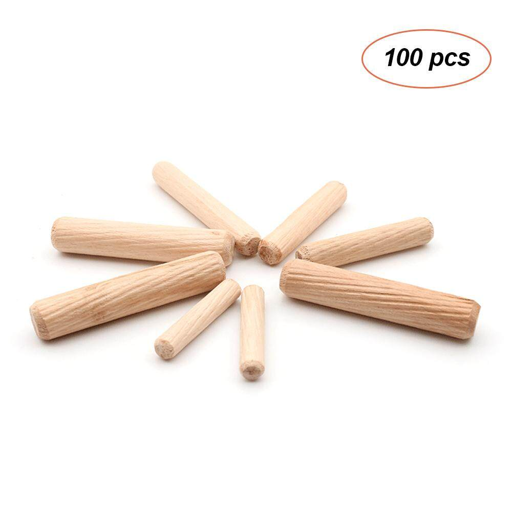 100pcs Dowel Wood Dowels Fluted Wooden Dowels Set of 100pcs Dowel Pins Fluted Pins for Furniture Cabinets