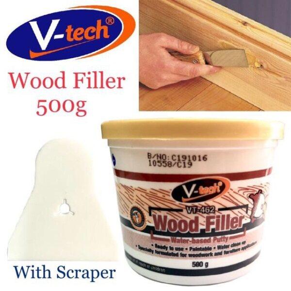 V-Tech Wood FillWood Filler Crake Repair Teak Natural Pengisi 500g(VT-462)