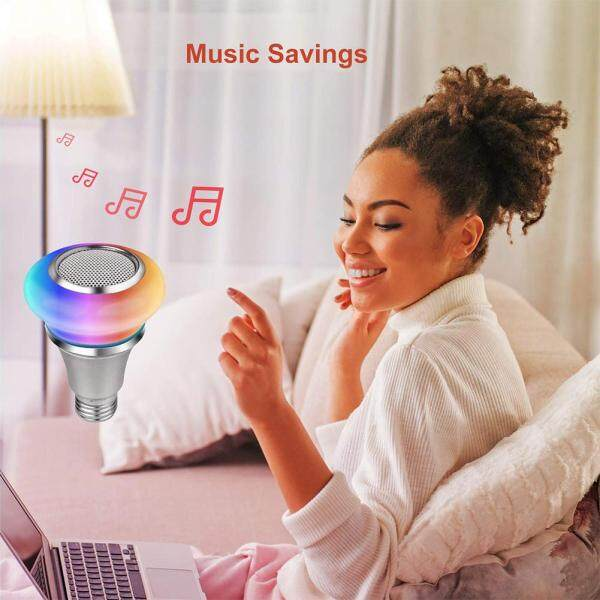 RGB Remote Control Color Changing Playing Dimmable Bluetooth Speaker Home Wireless Mini Smart Life Music Light Bulb
