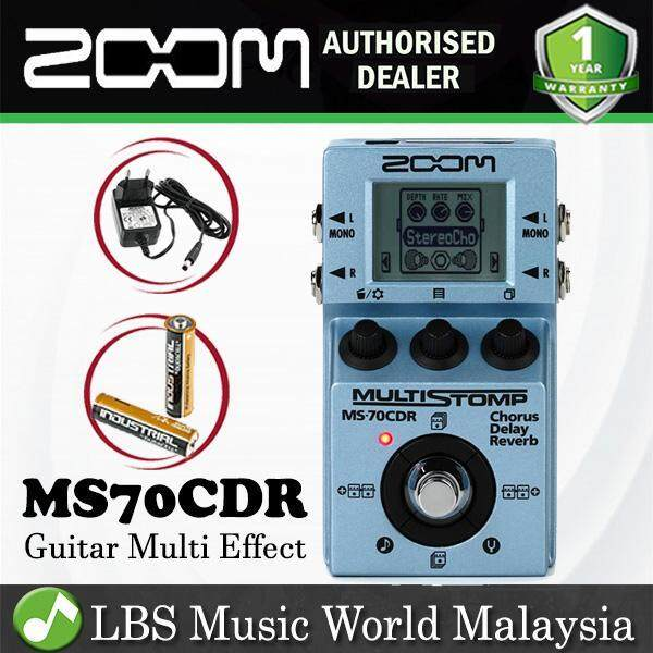 Zoom MS-70CDR MultiStomp Multi Effect Pedal Chorus Delay Reverb Stompbox With Adapter (MS70CDR MS 70CDR) Malaysia