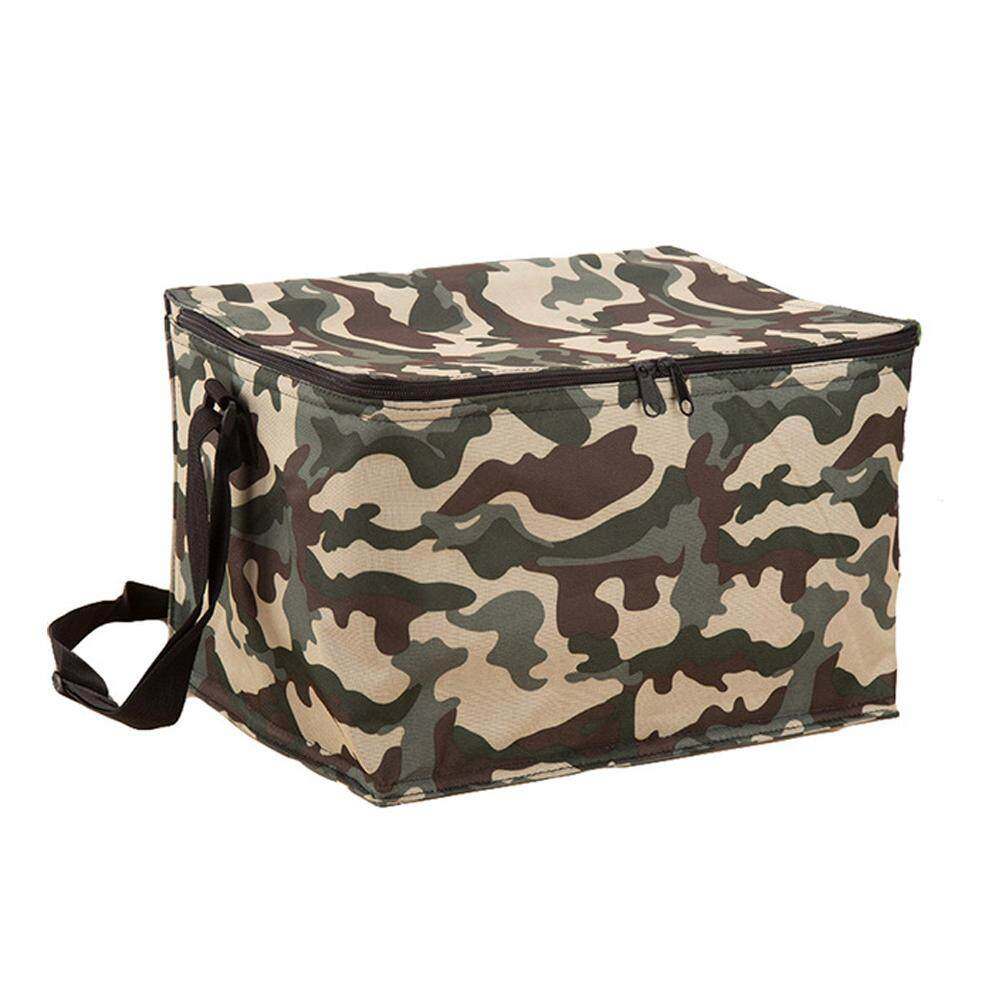 Outdoor Portable Waterproof Picnic Supplies Oxford Cloth Large Capacity Single Shoulder Zipper Insulation Ice Bag