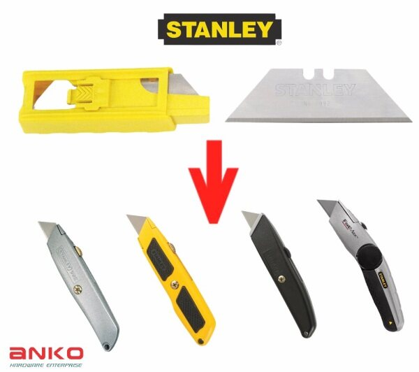 10PCS STANLEY CLASSIC 1992 HEAVY DUTY UTILITY BLADE ( REPLACEMENT BLADE FOR 10-099   10-175   10-777   10-779   10-804 )