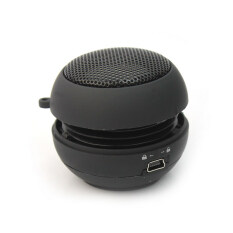 Black Mini Hamburger Portable 3.5mm Audio Speaker for iPhone PC MP3 Player New Malaysia