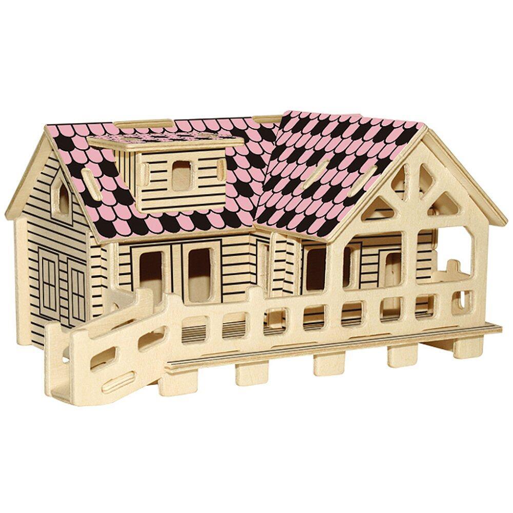 Offer Khuyến Mại BolehDeals Children Brilliant Gift Toys 3D Wooden Puzzles DIY Assembled Craft Log Cabin ...