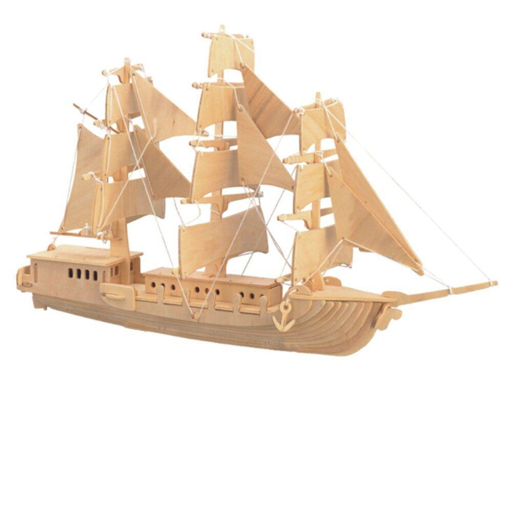 BolehDeals DIY 3D Wooden Jigsaw Sailing Boat Modeling Construction Kit Toy Puzzle Gift - Intl Giảm ...